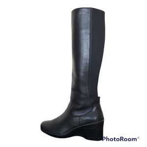 Rockport Total Motion Tall Stretch Wedge Boots Black